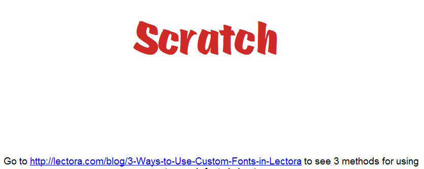 Custom Web Font Example