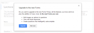 Google Drive - Upgrade Forms