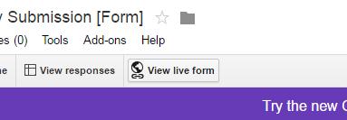 Google Drive - View Live Form