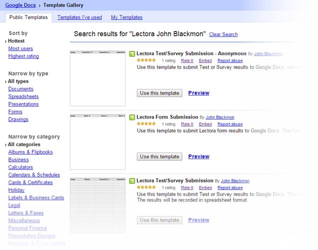 Lectora Templates on Google Drive