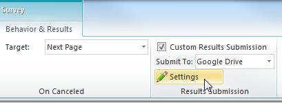 Lectora Custom Results Settings