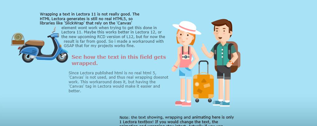 Text wrap around an image