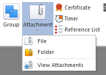 Attach External File or Folder