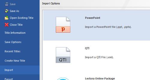 File Menu > Import PowerPoint