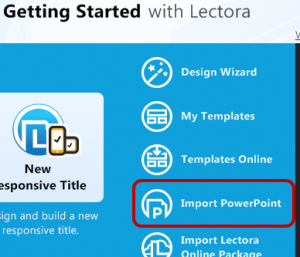 Getting Started - Import PowerPoint