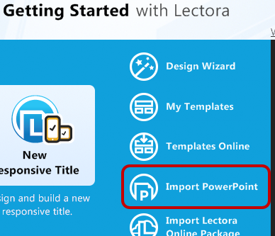 How to import powerpoint presentations into lectora trivantis getting started import powerpoint toneelgroepblik Images