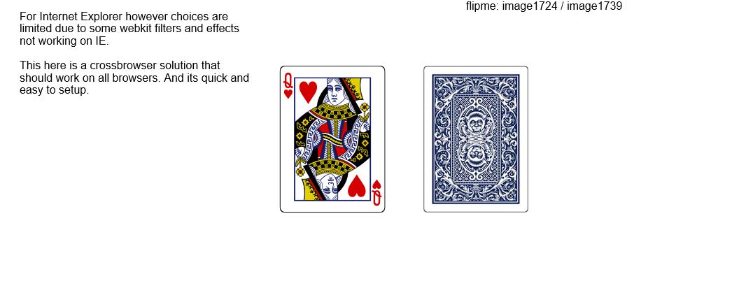 Cardflip effect