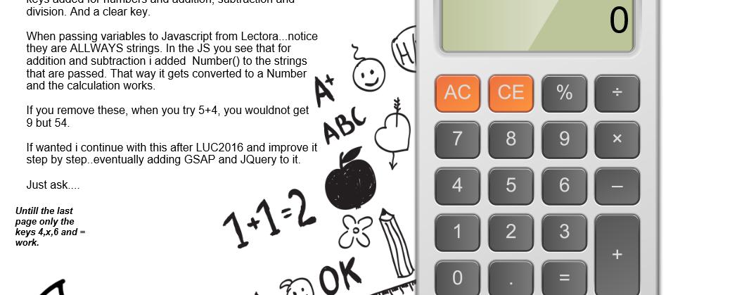 Calculator with Math's Math