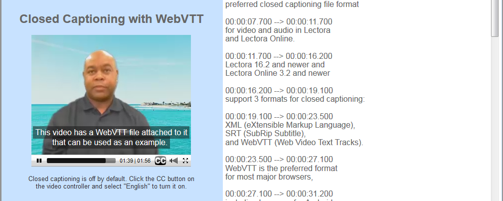 Closed Captioning with WebVTT