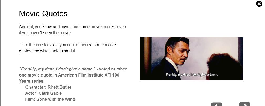 Contest 6 Movie Quote Quiz