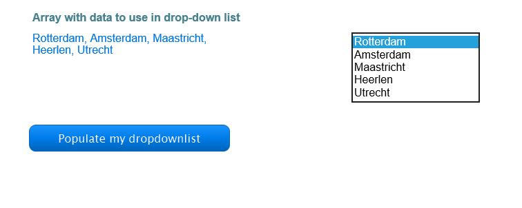 Fill Stan's Drop Down List