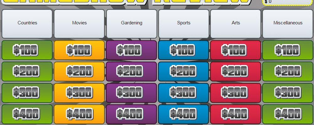 Contest 18: Trivia Game Show