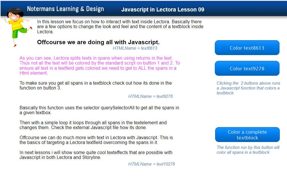 Color text javascript span textfield Archives - Trivantis Community