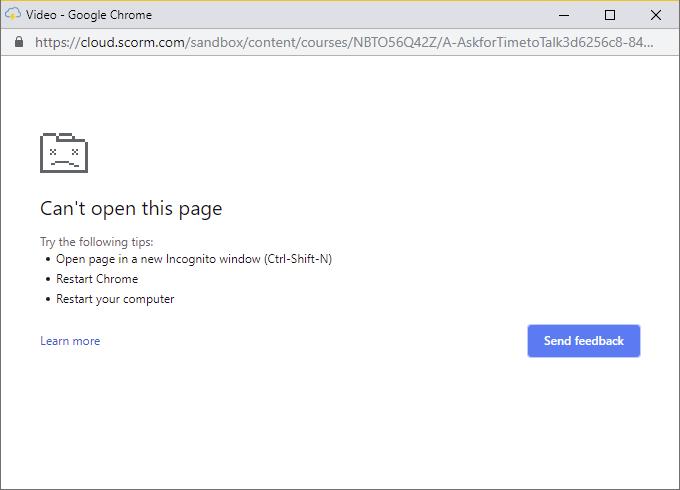 Chrome - Full Screen Video Error - Trivantis Community